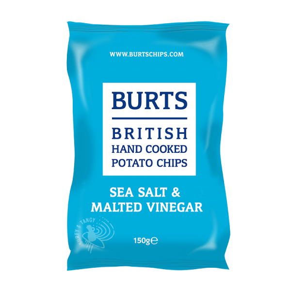 British Potato Chips Sea Salt & Malted Vinegar