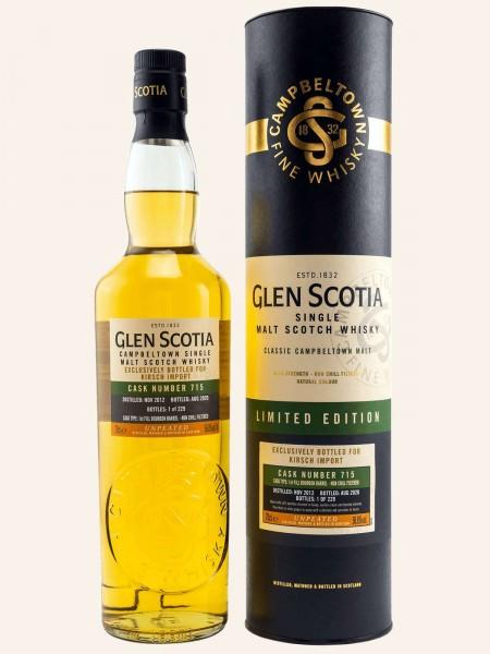 7 Jahre - 2012/2020 - Unpeated 1st Fill Bourbon Barrel - Cask No. 715 - Single Malt Scotch Whisky