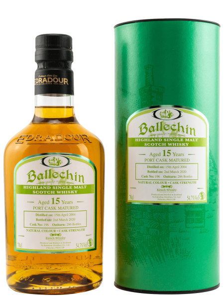 15 Jahre - Port Cask Matured - Cask No. 196 - Highland Single Malt Scotch Whisky