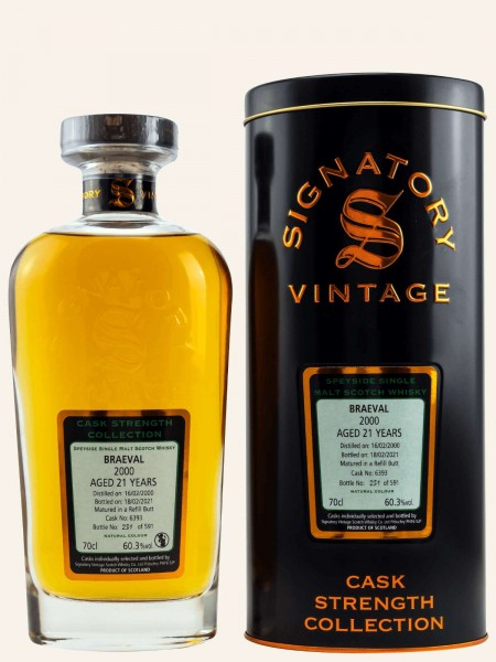 21 Jahre - 2000 - Signatory Vintage - Cask Stength Collection - Single Malt Whisky
