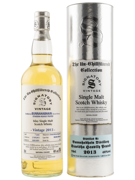 7 Jahre - Staoisha - Signatory Vinatge - Un-Chillfitered Collection - Single Malt Whisky