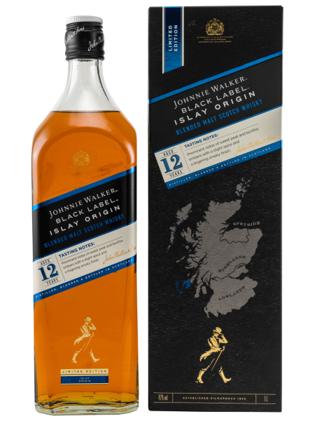 Black Label - 12 Jahre - Islay Origin - 1L - Blended Malt Scotch Whisky