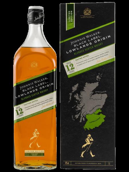 Black Label - 12 Jahre - Lowlands Origin - 1L - Blended Malt Scotch Whisky
