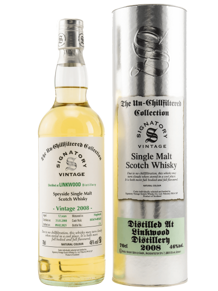 12 Jahre - 2008/2021 - Signatory Vintage - The Un-Chillfiltered Collection - Cask No. 803619 + 80362