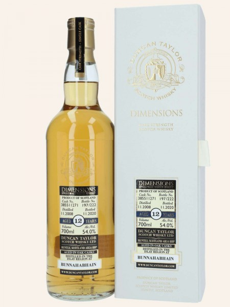 12 Jahre - 2008/2020 - Dimensions - Duncan Taylor - Cask No. 385511271 - Single Malt Scotch Whisky