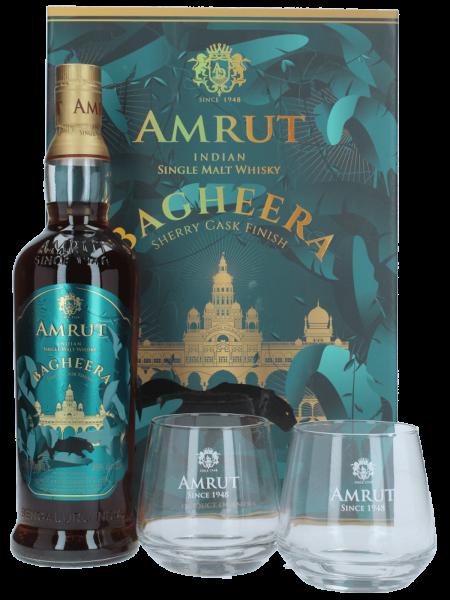 Bagheera Geschenkset mit 2x Gläsern - Single Malt Whisky