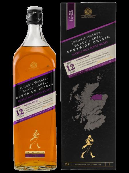 Black Label - 12 Jahre - Speyside Origin - 1L - Blended Malt Scotch Whisky