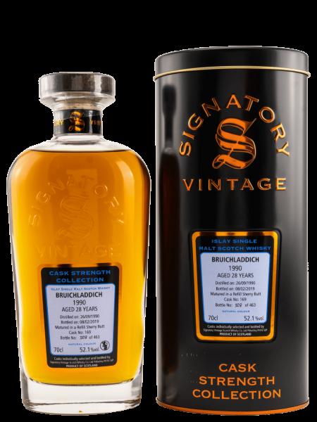 28 Jahre - Signatory Vintage - 1990 - Cask No. 169 - CS Collection - Single Malt Scotch Whisky