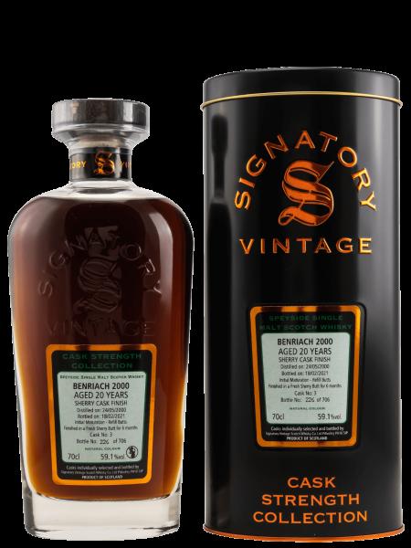 20 Jahre - 2000 - Signatory Vintage - Cask Strength Collection - Cask No. 3 - Single Malt Whisky