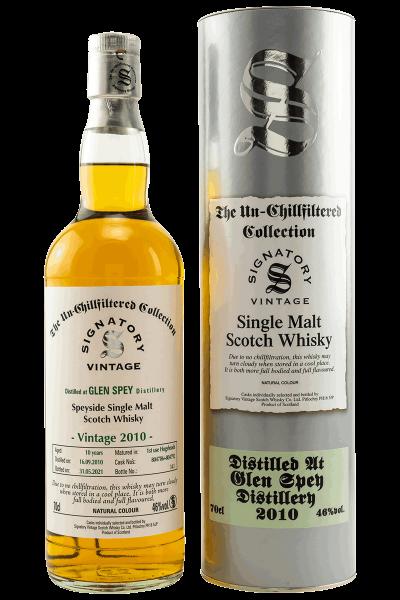 10 Jahre - 2010 - Signatory Vinatge - Un-Chillfitered Collection - Single Malt Whisky