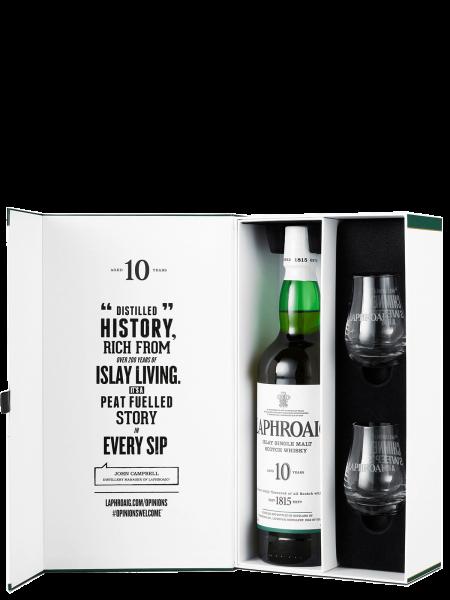 10 Jahre - Geschenkset mit 2 Gläsern - Islay Single Malt Scotch Whisky