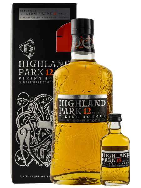 12 Jahre Viking Honour + Miniatur 18 Jahre Viking Pride - Single Malt Scotch Whisky