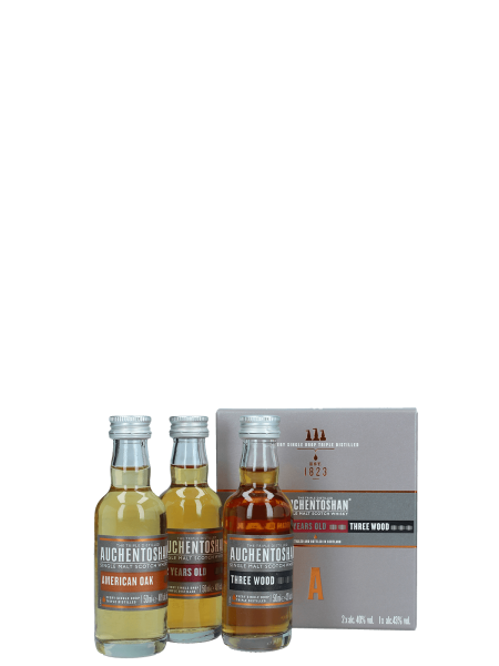 Tasting Set - 12 Jahre, Three Wood & American Oak - Lowland Single Malt Scotch Whisky