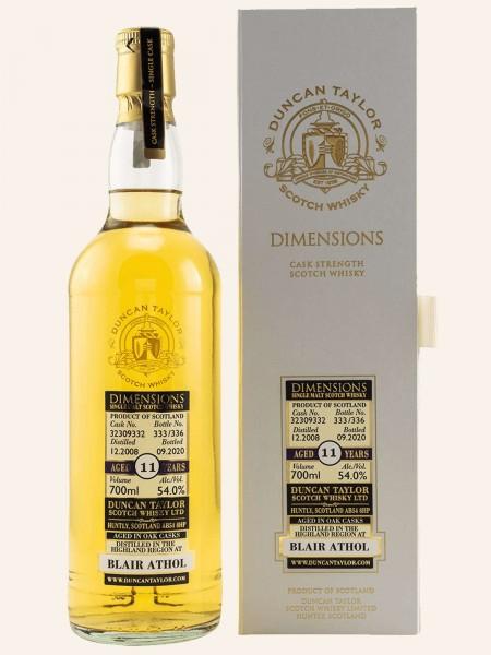 11 Jahre - 2008/2020 - Dimensions - Duncan Taylor - Single Cask No. 32309332 - Single Malt Whisky