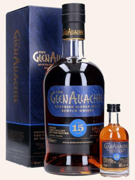 15 Jahre - Single Malt Scotch Whisky - mit kleiner Flasche