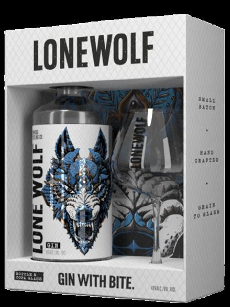 LoneWolf Gin - On-Pack Set mit Glas - Gin