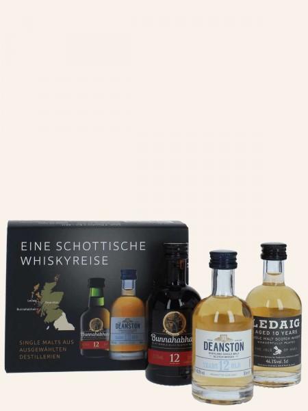 Schottische Whiskyreise - Miniatur Collection - Bunnahabhain + Ledaig + Deanston - Single Malt Scotc