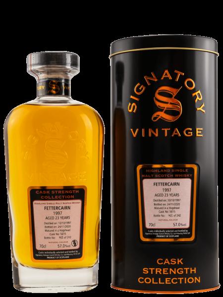 23 Jahre - Signatory Vintage - 1997 - Cask No. 5615 - Cask Strength Collection - Single Malt Scotch