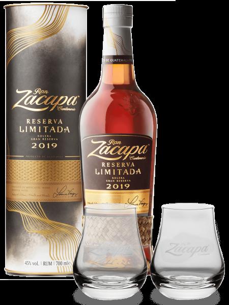 Reserva Limitada Rum 2019 + 2 Gläser