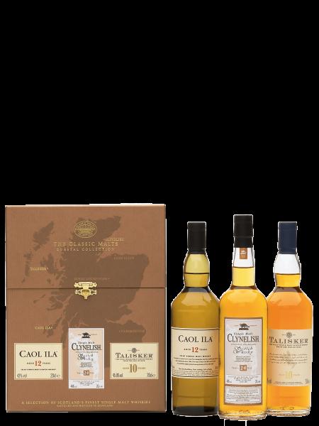 Coastal - Caol Ila 12 J. - Clynelish 14 J. - Talisker 10 J. - Single Malt Scotch Whisky 3x 200ml