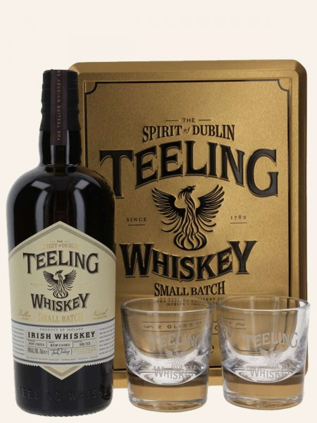 Small Batch - Rum Cask Finish - Blended Irish Whiskey - Geschenkset mit 2 Gläsern