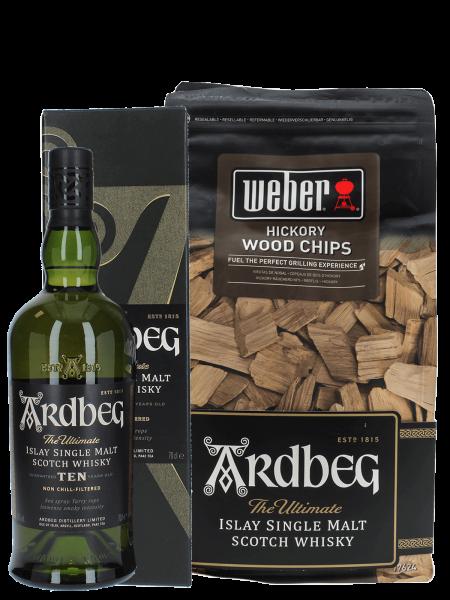 Ardbeg - Ten 10 Jahre Single Malt + Hickory Wood Chips
