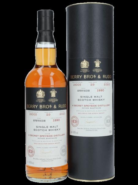 29 Jahre - Secret Speyside - Cask No. 18005 - Single Malt Scotch Whisky