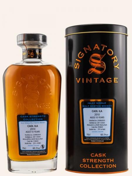 10 Jahre - 2010 - Signatory Vintage - Cask Strength Collection - Cask No. 316634 - 60,3% - Whisky