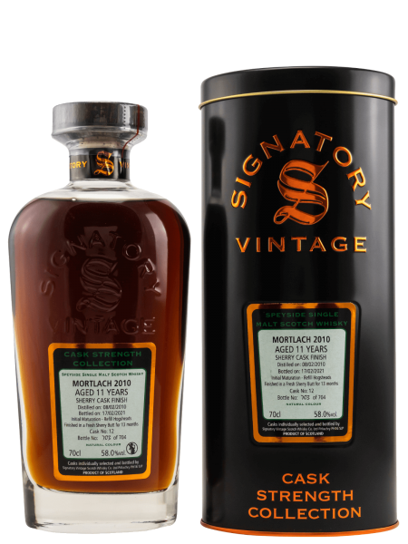 11 Jahre - 2010 - Signatory Vintage - Cask Strength Collection - Cask No. 12 - Single Malt Whisky