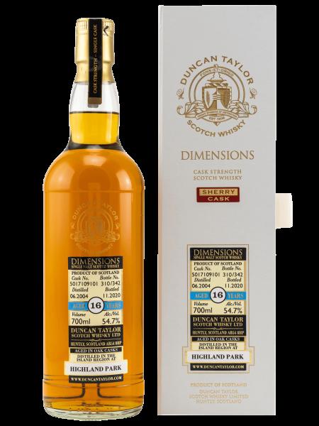 16 Jahre - 2004/2020 - Dimensions - Duncan Taylor - Single Cask No. 5017109101 - Single Malt Scotch