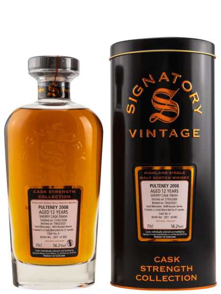 12 Jahre - 2008 - Signatory Vintage - Cask Strength Collection - Cask No. 4 - Single Malt Whisky