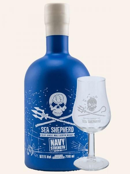 Navy Strength - Batch 001 + 1 Nosing Glas - Islay Single Malt Scotch Whisky