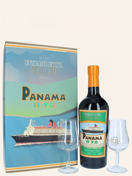 Panama - 15 Jahre - Blended Rum + 2 Gläser