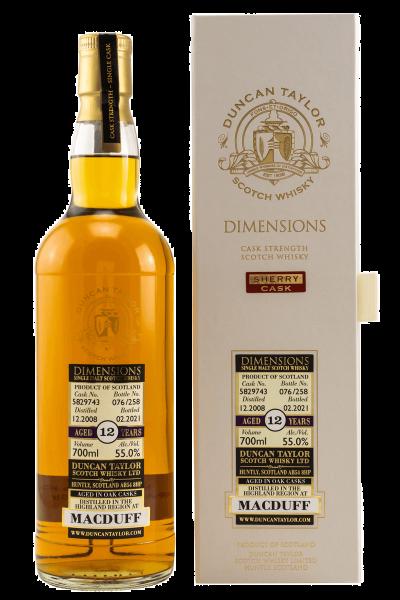 12 Jahre - 2008/2021 - Dimensions - Duncan Taylor - Cask No. 5829743 - Single Malt Whisky