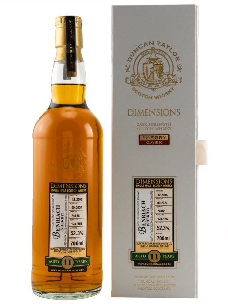 11 Jahre - 2008/2020 - Dimensions - Duncan Taylor - Single Cask No. 74188 - Single Malt Whisky