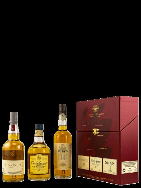 Gentle - Oban 14 J. - Glenkichie 12 J. Dalwhinie 15 J. - Single Malt Scotch Whisky 3x 200ml
