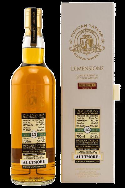 12 Jahre - 2008/2021 - Dimensions - Duncan Taylor - Cask No. 95900330 - Single Malt Whisky
